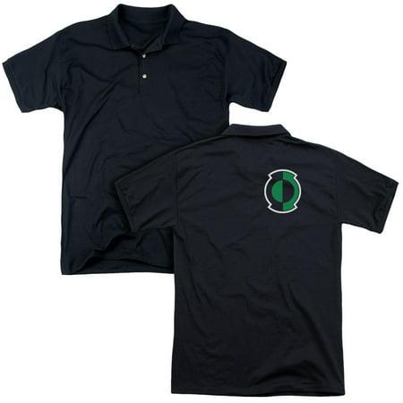 Green Lantern Dc Comics Kyle Logo Adult Back Print Polo T Shirt