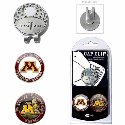 Team Golf NCAA Minnesota Cap Clip With 2 Golf Ball Markers