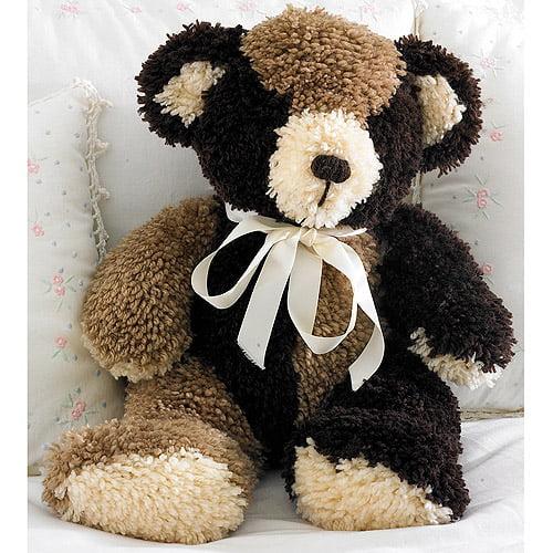 "M C G Textiles Huggables Bear Stuffed Toy Latch Hook Kit, 20"" Tall"