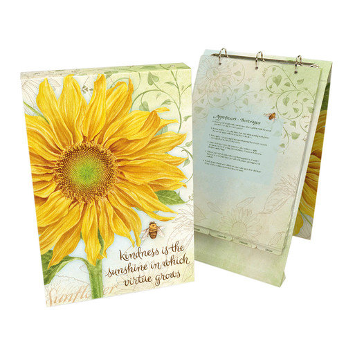 Lang The Beautiful Virtue Grows Vertical Recipe Card Ring Album