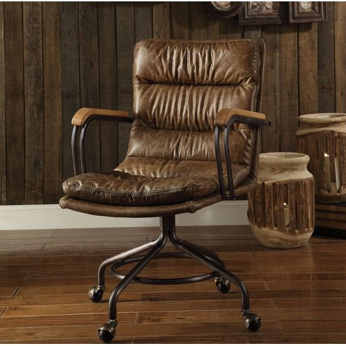 Union Rustic Medway Leather Executive Chair