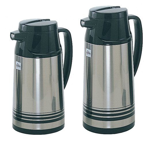 Update International 1.9 Liter Stainless Steal Body Glass Lined Vacuum Jug