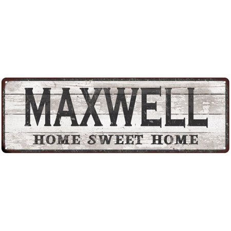 MAXWELL Home Sweet Home Country Look Personalized 6x18 Metal Sig 206180045715 (Personalized Sweets)
