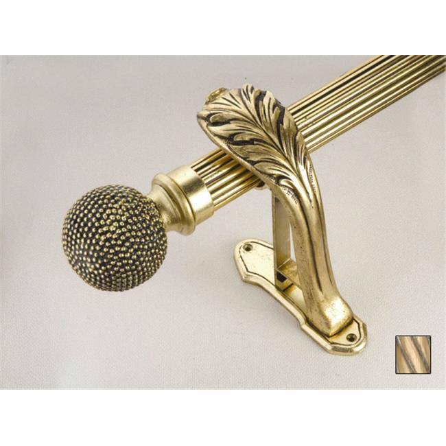 WinarT USA 8. 1068. 30. 21. 400 Palas 1068 Curtain Rod Set - 1. 25 inch - Oxidized Brass - 157 inch