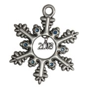 Pewter Snowflake with Year Charm