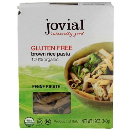 Jovial Gluten Free Organic Brown Rice Penne Rigate, 12 Oz