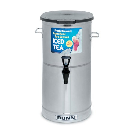 (BUNN TDO-4 Commercial Iced Tea Dispenser w/Solid Lid, Oval)