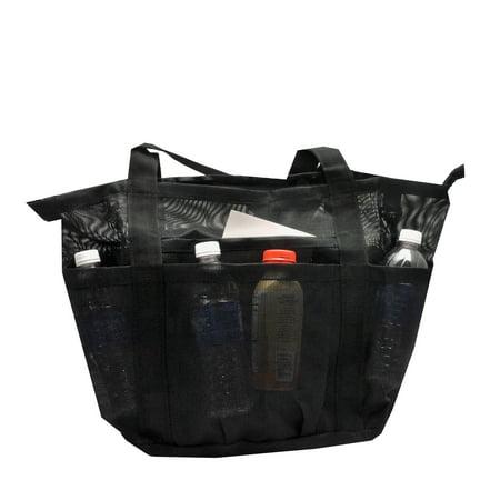 Deluxe Oversized Mesh Family XL Beach Tote / Jumbo Bag w Carabiner Hook
