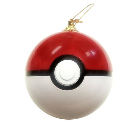 Pokeball Ornament Christmas Tree Pokemon Hanging Opens And