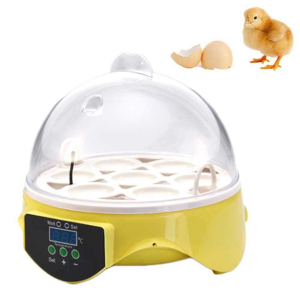 7 Eggs Incubator Digital 230V Hatching Chicken Duck Egg Mini Incubator Eggs Hatcher Chickens Ducks Goose Birds