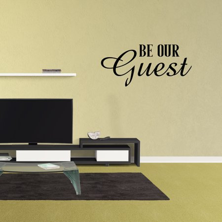 Be Our Guest Vinyl Wall Decal Quote Bedroom Family Lettering Words Graphics Home Decor Sticker XJ534