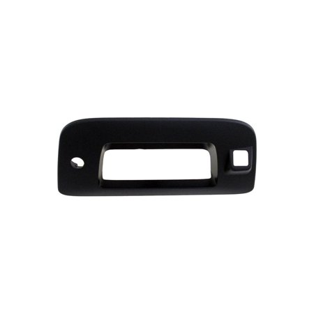 Dorman 82777 Tailgate Handle Fits the following vehicles:Chevrolet Silverado 15002009 With Keyhole, With Camera Hole2010 With Keyhole, With Camera Hole2011 With Keyhole, With Camera Hole2012 With Keyhole, With Camera Hole2013 WITH CAMERA HOLEChevrolet Silverado 2500 HD2009 With Keyhole, With Camera Hole2010 With Keyhole, With Camera Hole2011 With Keyhole, With Camera Hole2012 With Keyhole, With Camera Hole2013 WITH CAMERA HOLE2014 WITH CAMERA HOLEChevrolet Silverado 3500 HD2009 With Keyhole, With Camera Hole2010 With Keyhole, With Camera Hole2011 With Keyhole, With Camera Hole2012 With Keyhole, With Camera Hole2013 WITH CAMERA HOLE2014 WITH CAMERA HOLEGMC Sierra 15002009 With Keyhole, With Camera Hole2010 With Keyhole, With Camera Hole2011 With Keyhole, With Camera Hole2012 With Keyhole, With Camera Hole2013 WITH CAMERA HOLEGMC Sierra 2500 HD2009 With Keyhole, With Camera Hole2010 With Keyhole, With Camera Hole2011 With Keyhole, With Camera Hole2012 With Keyhole, With Camera Hole2013 WITH CAMERA HOLE2014 WITH CAMERA HOLEGMC Sierra 3500 HD2009 With Keyhole, With Camera Hole2010 With Keyhole, With Camera Hole2011 With Keyhole, With Camera Hole2012 With Keyhole, With Camera Hole2013 WITH CAMERA HOLE2014 WITH CAMERA HOLEDORMAN HELP! TAILGATE HANDLE BEZELSAffordable, directly compatible and built to last, Dorman Help! tailgate bezels stand out as the smart option.Since 1918, Dorman Products has supplied the automotive aftermarket with high-quality replacement parts, hardware and fasteners.Manufactured with premium plasticSimple to install  special tools not necessaryCan be painted to match your vehicles overall designOffered in smooth or textured exteriors
