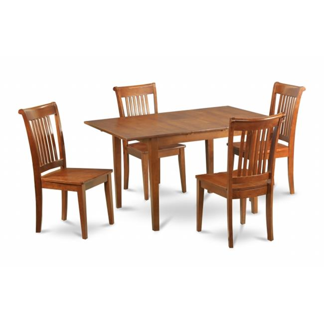 MLPO7-SBR-W 7 Piece kitchen nook dining set-kitchen table and 6 dining room chairs