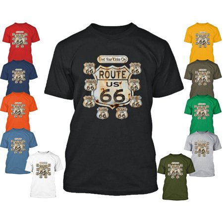 Route 66 MAN TSHIRT Route Us 66 Man Tee Shirt Get Your Kick On Route 66 Shirt Color Charcoal Size Medium