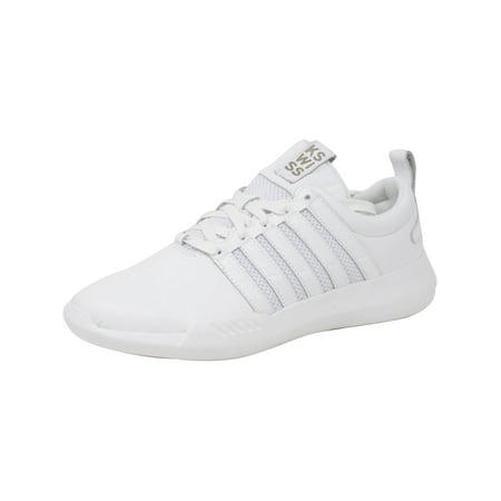 K-Swiss Women's Gen-K Manifesto White / Ankle-High Leather Fashion Sneaker - 11M