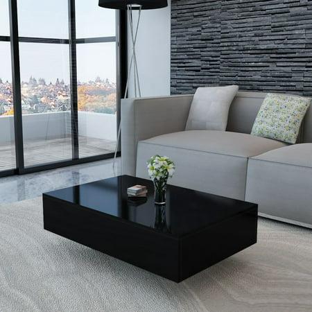 Rectangular Coffee Table Rectangle Tea Modern Living Room Furniture Black Side Desk