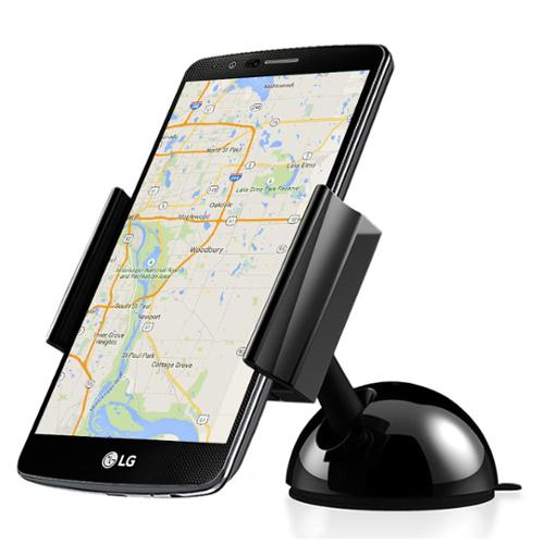 Vena Car Mount One Hand Dashboard Windshield Phone Holder for iPhone 7 7 Pus 6S 6 Plus, Moto G4 / G4 Plus, HTC 10