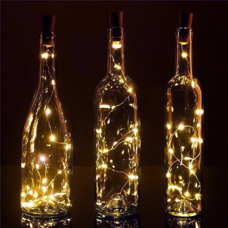 BULK PACK (3) Fantado 20-LED Warm White Cork Wine Bottle Lamp Fairy String Light Stopper, 38-Inch by PaperLanternStore (Hopi Three Light)