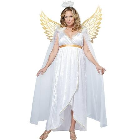 Womens Biblical Costumes (Biblical Guardian Angel Plus Size)