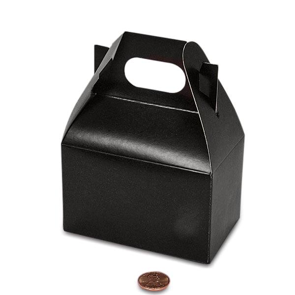 "Black Gable Gift Box 4"" X 2-1/2"" X 2 1/2"" | Quantity: 100 by Paper Mart"