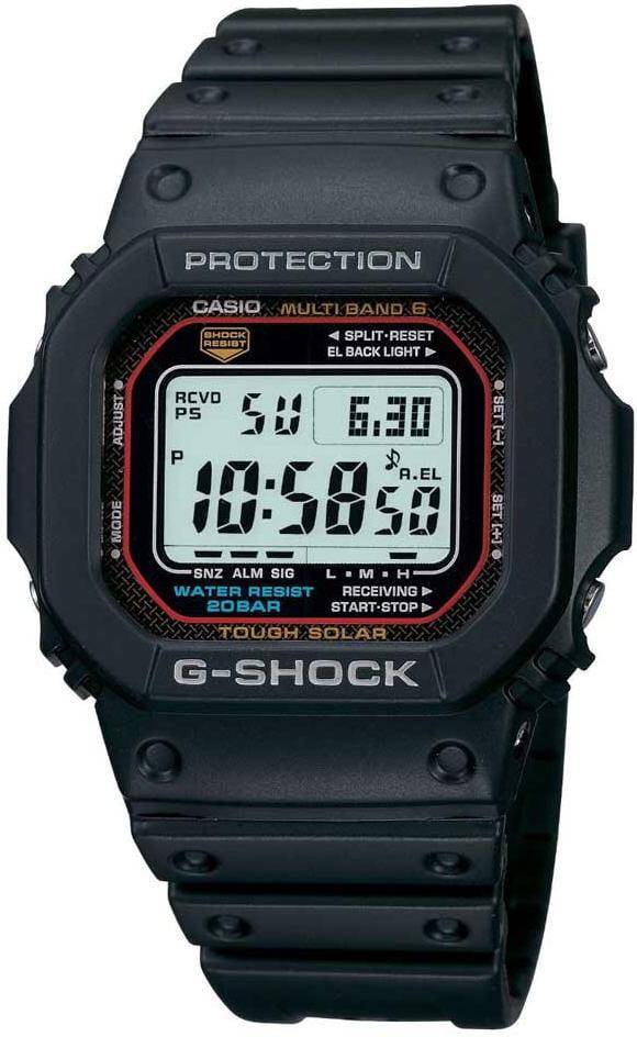 Black Casio G-Shock 5600 Solar Atomic Watch GWM5610-1 by Casio