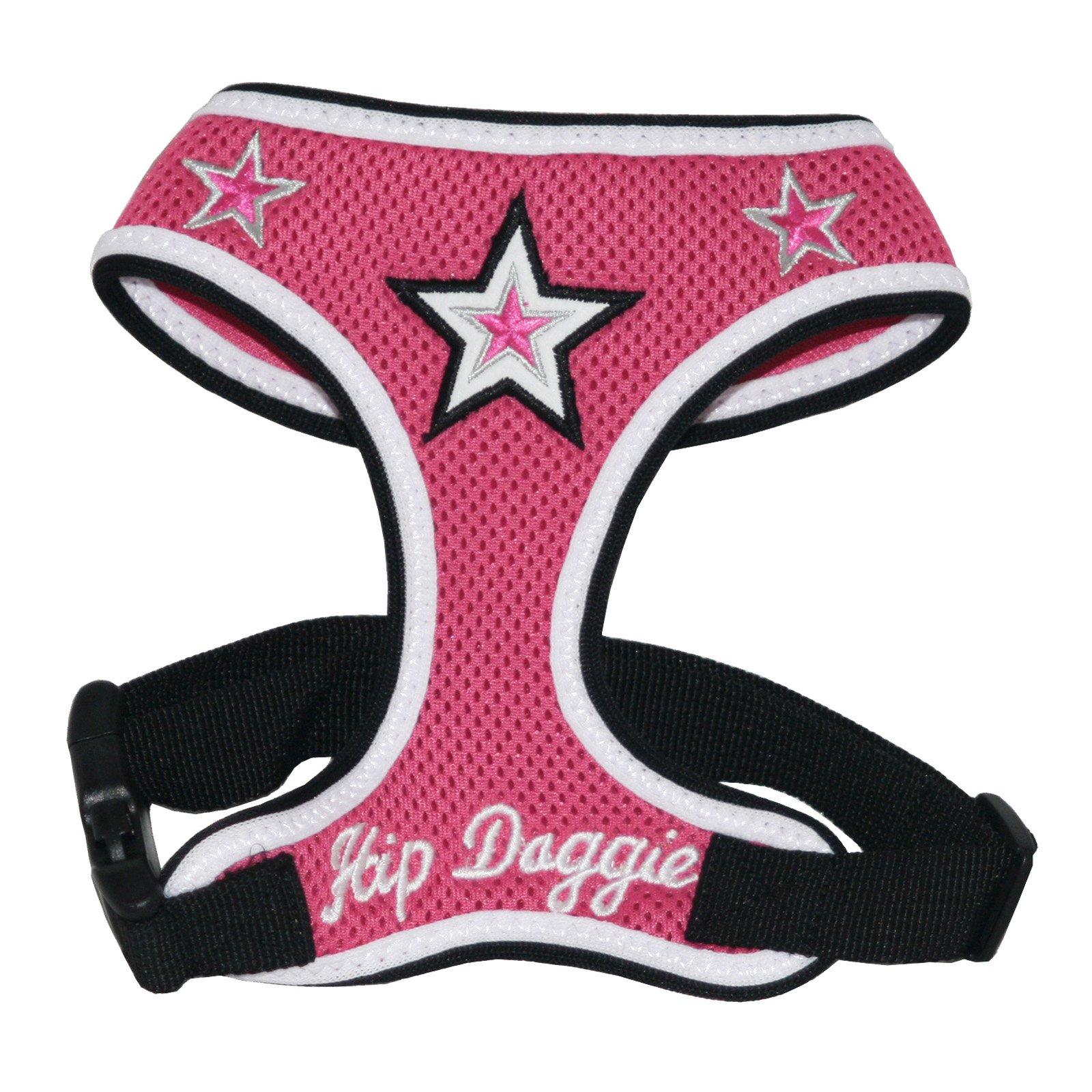 Hip Doggie Pink Super Star Mesh Harness Vest