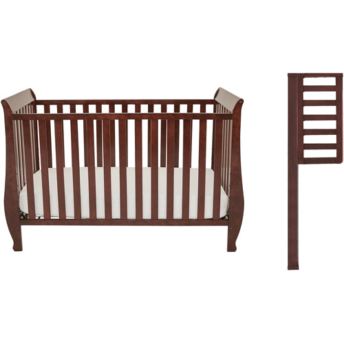 Athena Baby Naomi 4-In-1 Convertible Crib With Toddler Rail Espresso