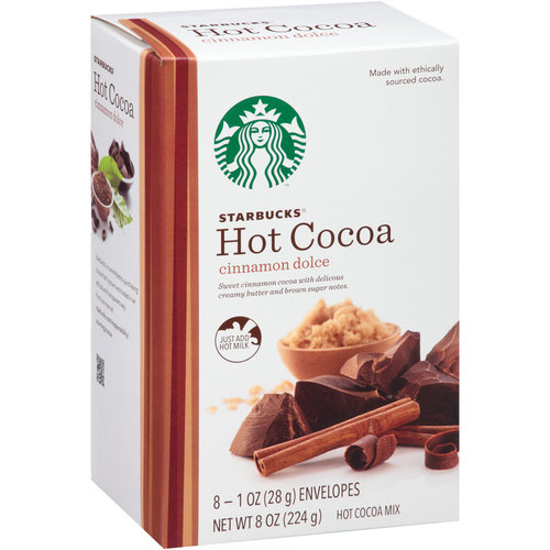 Starbucks Coffee Cinnamon Dolce Hot Cocoa Mix, 1 oz, 8 ct