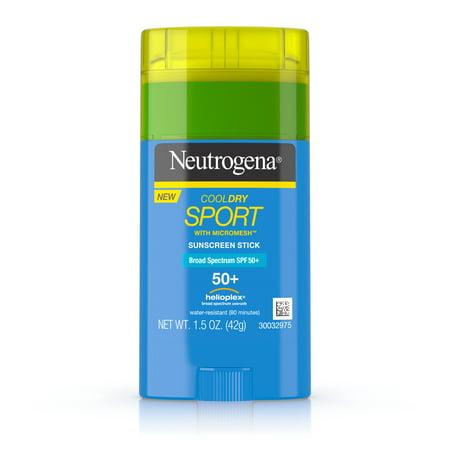 Neutrogena CoolDry Sport Sunscreen Stick with SPF 50, 1.5 oz