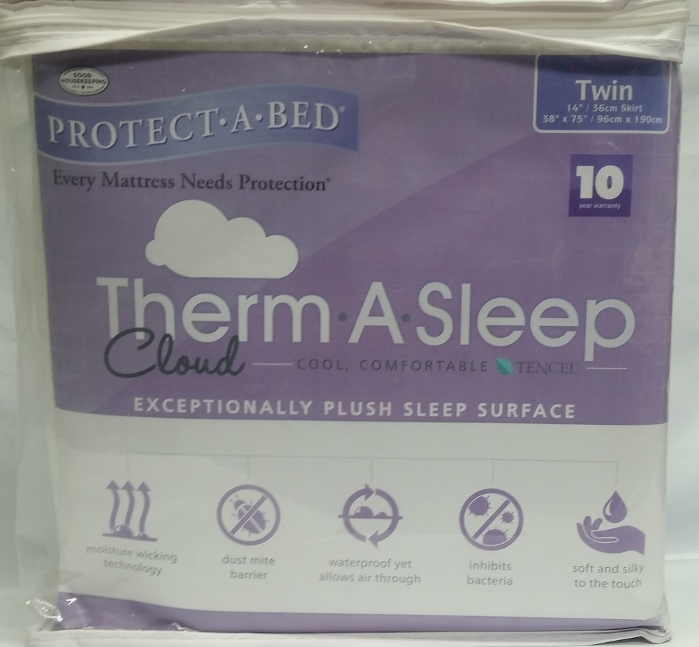 Therm-A-Sleep Cloud Mattress Protectors - TWIN