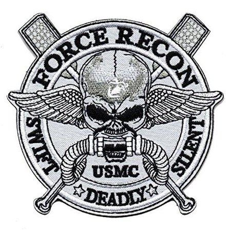 Usmc Military Patch - Wilde Passion Marine Force Recon USMC Military Swift Deadly Silent Embroidered Patch