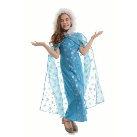 Snow Queen Cape (Child Snow Queen Cape by Underwraps Costumes 26221, One)