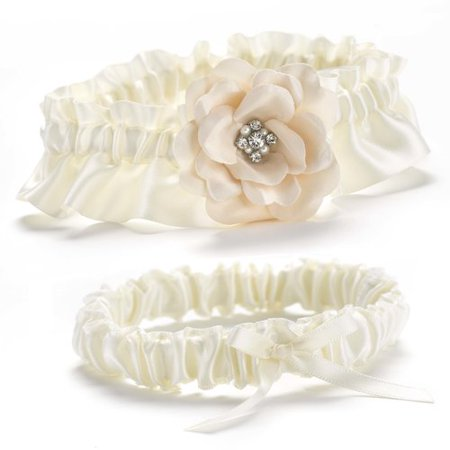 Le Prise Love Blooms Garter - Wedding Garter Set