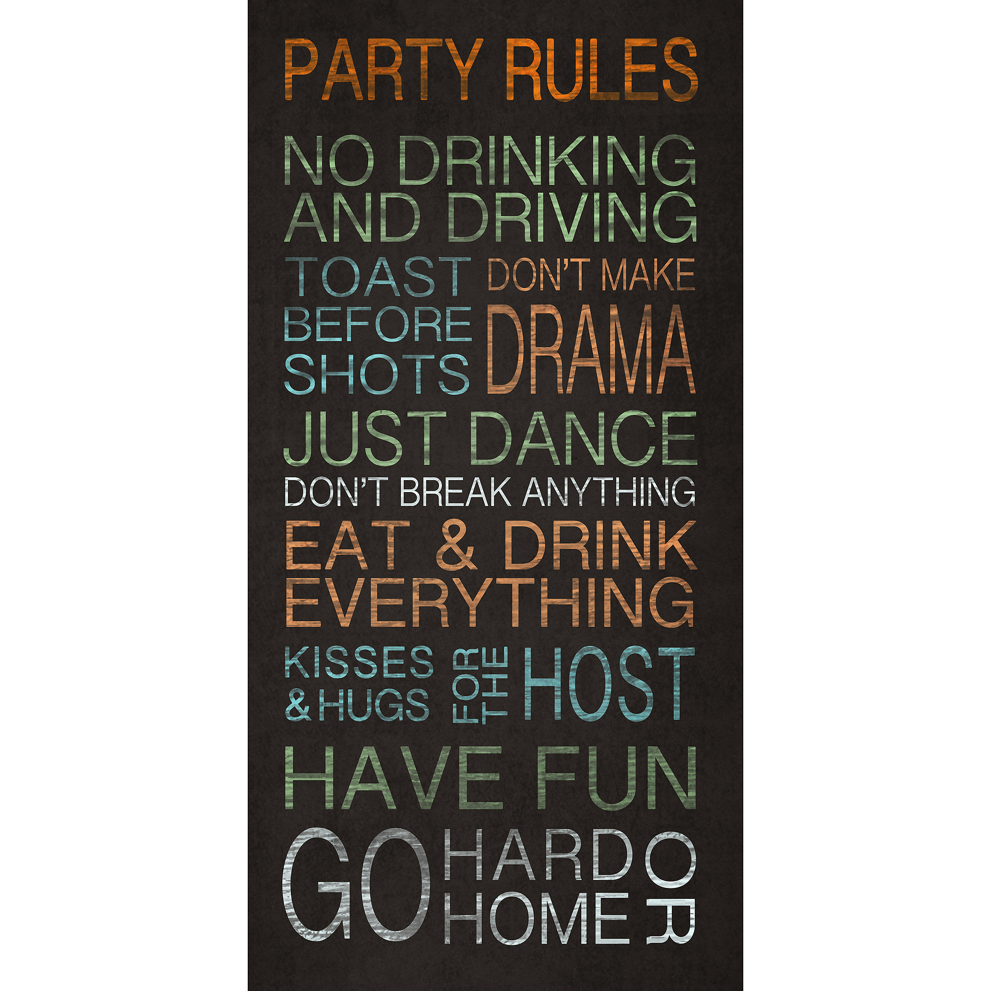Party Rules  Wall Art