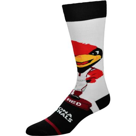 Arizona Cardinals For Bare Feet Youth Mascot Bobble Head Quarter-Length Socks - No Size