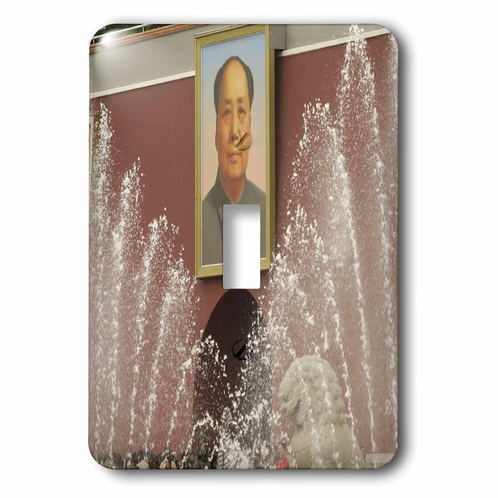 3dRose Portrait of Mao, Tiananmen Square Beijing, China-AS07 POX0499 - Pete Oxford, 2 Plug Outlet Cover