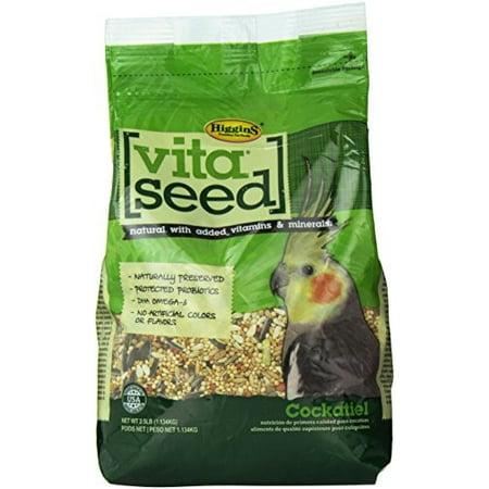 Higgins Vita Seed Cockatiel Bird Food, 2 Lb