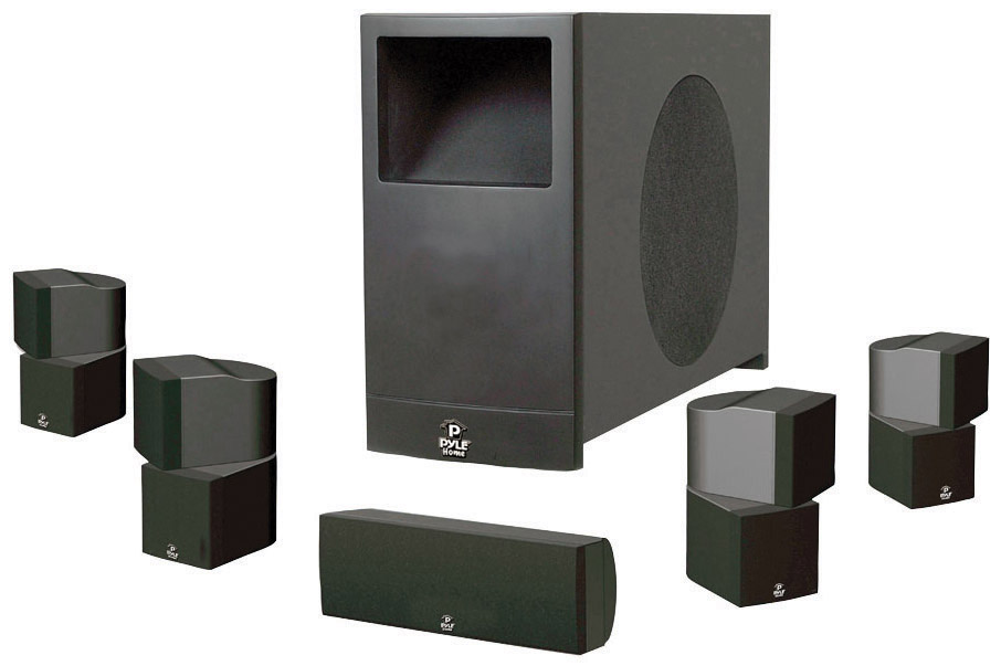 PYLE PHS51P Home Theater Speaker System, Black by Pyle
