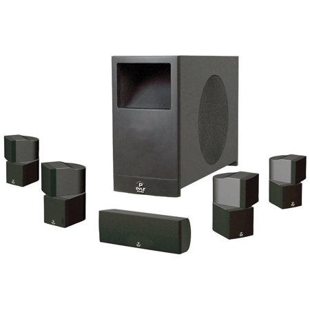 PYLE PHS51P Home Theater Speaker System, Black