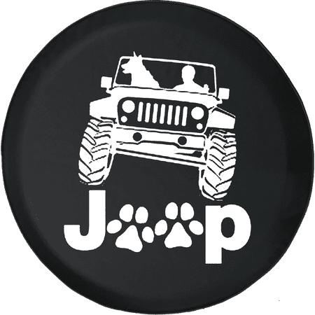 Jeep Paws Dog Passenger 4x4 Dog Spare Tire Cover fits Jeep RV 30 Inch (Spare Tire Cover 4x4)
