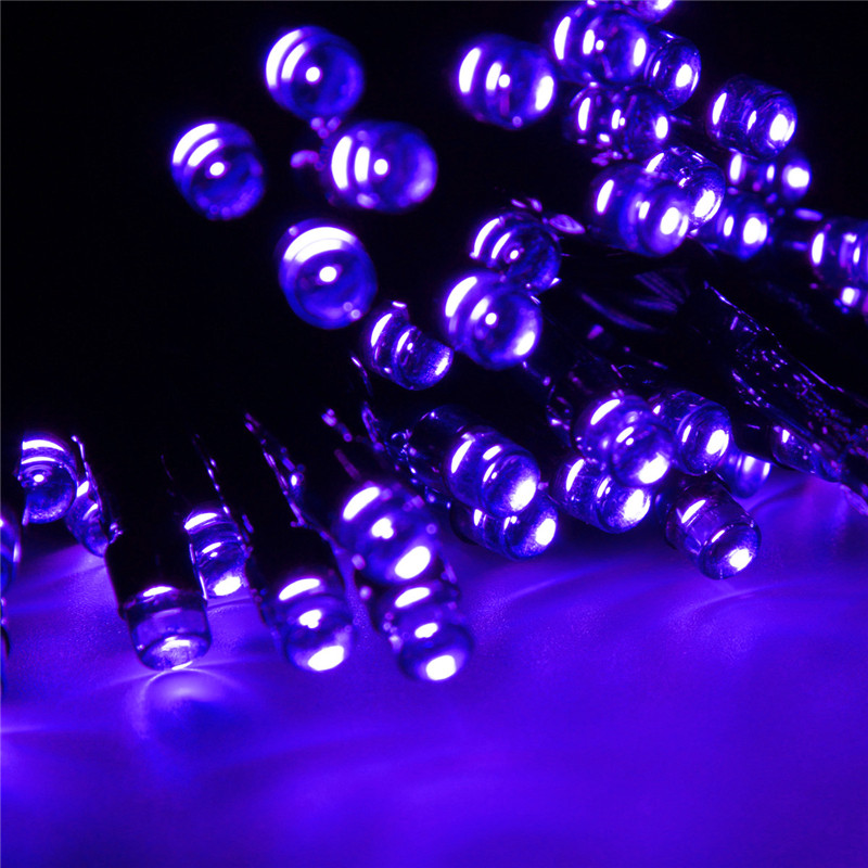 17ft 50 LED Solar Power String Fairy Lights for Party Xmas Outdoor Garden Tree Christmas Decoration