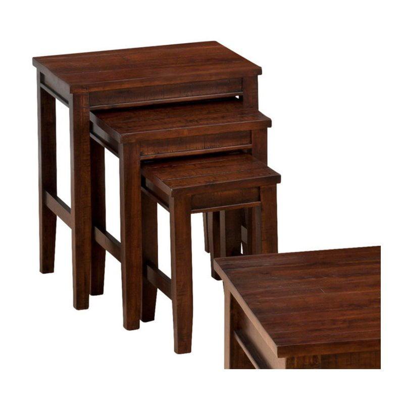 Jofran 3 Piece Nesting Tables in Urban Lodge Brown by Jofran