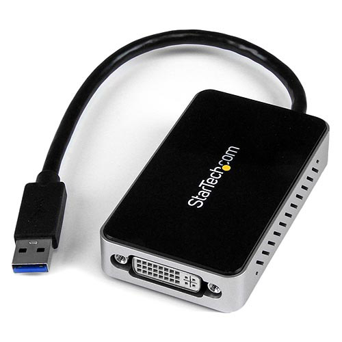 Startech USB 3.0 to DVI External Video Card Multi Monitor Adapter with 1-Port USB Hub