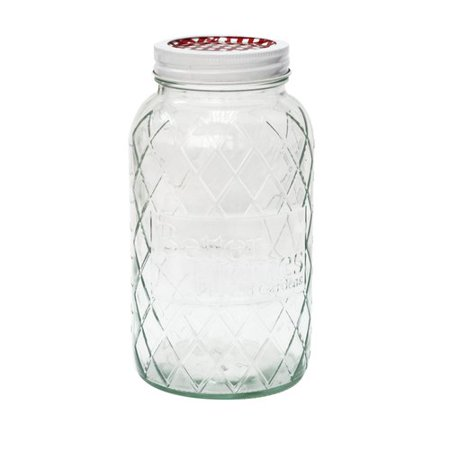 Better homes gardens quart regular glass jar with lid ring for Better homes and gardens canisters