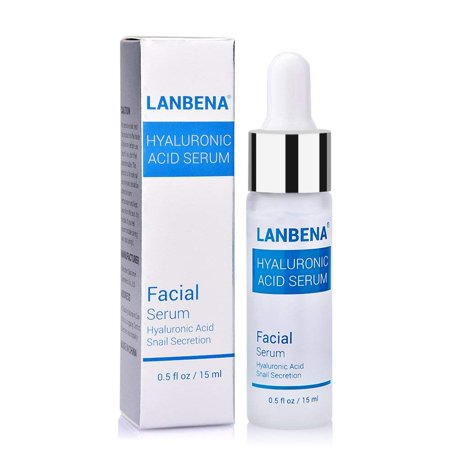 LANBENA Hyaluronic Acid Serum for Skin, Anti-Aging, Lift and Firm skin, Prevents Wrinkles and Acne, Moisturize, Snail Secretion Pure Hyaluronic Acid Serum for Face,