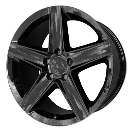 Aftermarket 2006-2007 Jeep Grand Cherokee  20x9 Aluminum Alloy Wheel, Rim Front Black Full Face Painted -