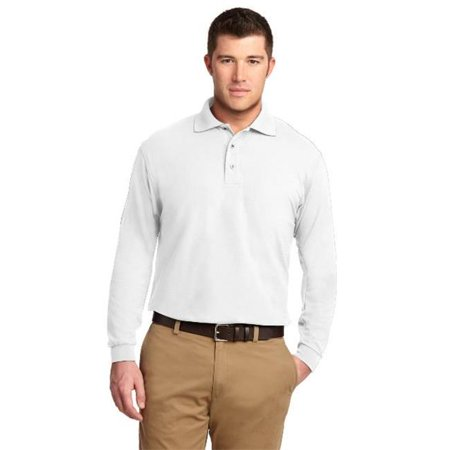 Port Authority® Long Sleeve Silk Touch™ Polo.  K500ls White 4Xl - image 1 de 1
