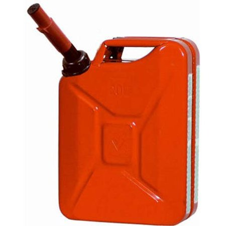 Midwest Can 5 Gallon Metal Auto Shutoff Jerry Gas Can
