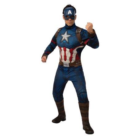 Avengers: Endgame Adult Captain America Deluxe Costume - Adult Captain America Costumes