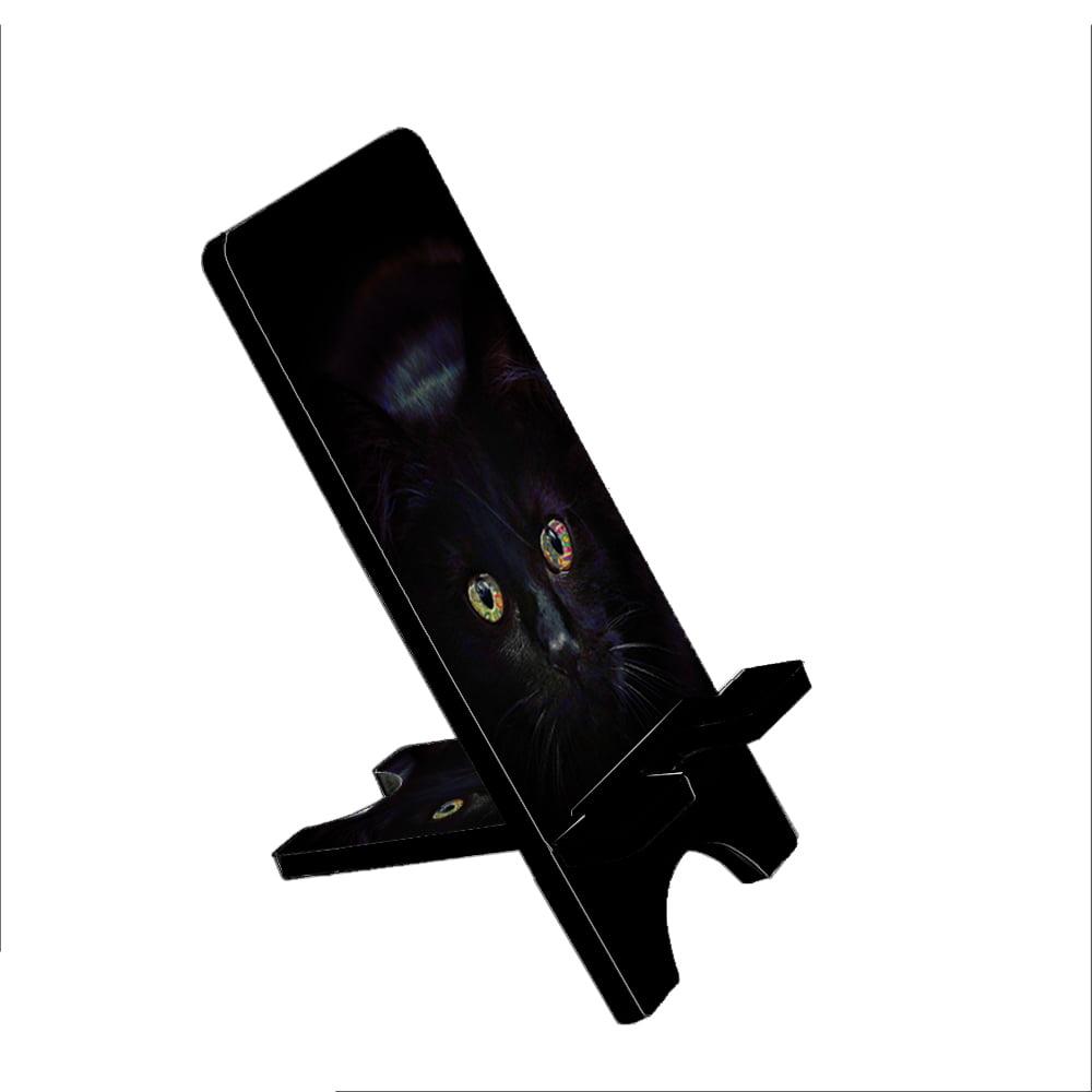 Black Cat Painting Eyes - KuzmarK Folding Stand fits iPad Mini iPhone Samsung Galaxy